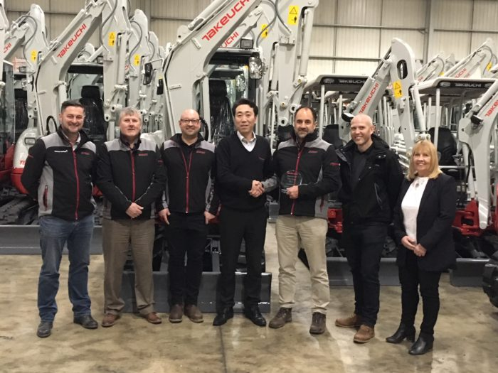 Parkway Plant Sales 'Takeuchi Dealer of the Year 2017'