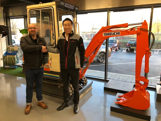 Parkway pick up Takeuchi dealer of the year 2018 to complete the 'hat-trick'